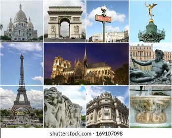 Paris collage - tourist highlights