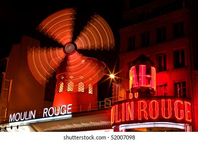 PARIS - DEC 9: The Moulin Rouge has been a favorite destination for tourists, locals, and celebrity performances since its opening in 1889. Paris, France, December 9, 2008.