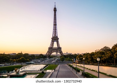 Paris eifel tower Sunrise