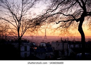 Paris Eiffel Tower Arc de Triomphe