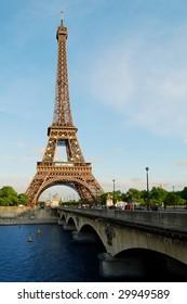 Paris, Eiffel Tower in the Evening