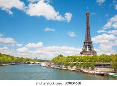 Paris - Eiffel tower from riverside