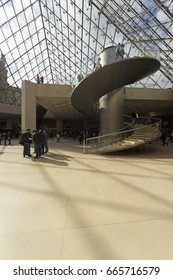 PARIS - FEBRUARY 2014; Inside the Louvre Museum.