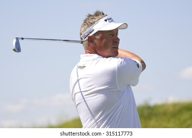 PARIS FRANCE, 03 JULY 2009. Darren Clarke (GBR) competing in the 2nd round of the PGA European Tour Open de France golf tournament.