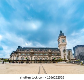 Paris, France - 05 May, 2017: City views of one of the most beautiful cities in the world - Paris. Station Gare de Lyon is one of the oldest and most beautiful train stations in Paris.