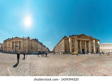 Paris, France - 05 May, 2017: Panorama of Buildings of the universities Panthéon-Sorbonne and Panthéon-Assas Place du Panthéon Paris at Pantheon square