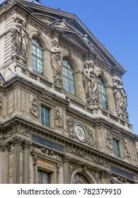Paris, France - 05/10/2010 - Paris, France - The Louvre Façade Detail