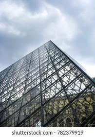 Paris, France - 05/10/2010 - Paris, France - The Louvre Pyramid