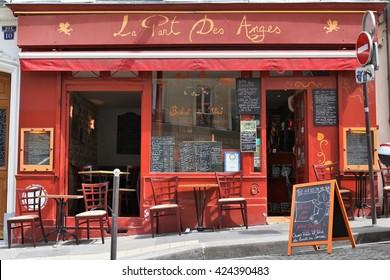 Paris, France. 05.21.2016. An old typical restaurant in Paris, near Montmartre
