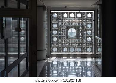 Paris, France - 06/25/2016: Arab World Institute (Institut du Monde Arabe)