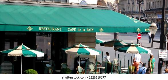 Paris, France / Paris - 12th August 2012: CAFÉ DE LA PAIX restaurant cafe in Paris