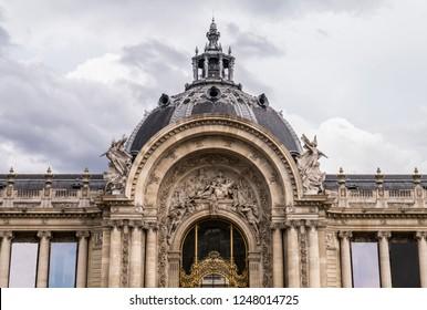 Paris, France, 13 October 2018 - The Petit Palais (small palace) art museum Paris