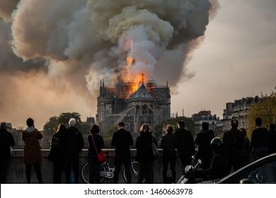 Paris, France, 16 avril 2019, Notre dame de Paris, Fire