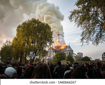 Paris, France, 16 avril 2019, Fire Cathedral of Paris, Notre Dame