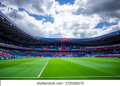 PARIS, FRANCE - 16 JUNE, 2019: A general view of the Parc des Princes stadium before the 2019 FIFA Women's World Cup match between USA and Chile.