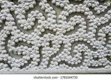 Paris, France, 17 May2015: White pastel mosaic decoration tile wall texture background.  Beautiful pattern.