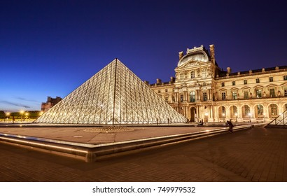 PARIS, France - 18 April, 2017: The Louvre Museum is one of the world's largest museums and a historic monument. A central landmark of Paris, France.