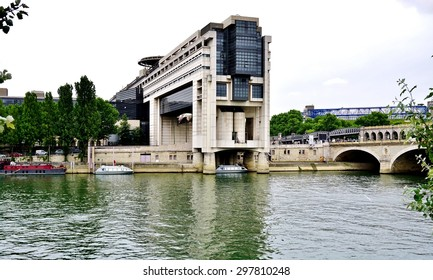 PARIS, FRANCE -18 JUNE 2015- The headquarters of the French Ministry of Finance and Economy is located in the Bercy neighborhood in the 12th arrondissement of Paris, extending over the Seine river.
