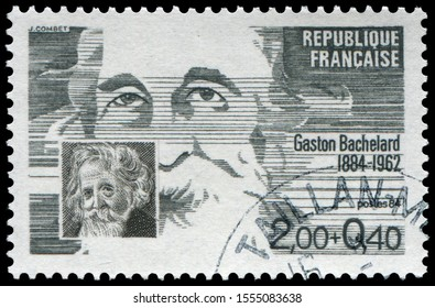 Paris, France - 1984: Gaston Bachelard (1884-1962), French philosopher. He made contributions in the fields of poetics and the philosophy of science.