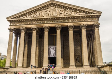 Paris France 20 April 2014 The  Madeleine church was built as a temple to the glory of Napoleon's Army's