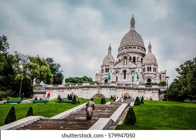 basilica sacre coeur montmartre paris france stock photo download