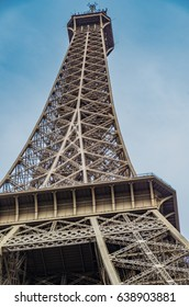 Paris France 2014 April 21,  The Eiffel Tower is a landmark and the most recognized symbol of France