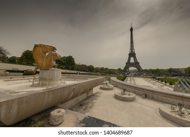 Paris, France, 2019/04, The Eiffel Tower view from the Trocadero