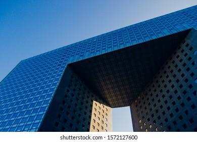 Paris France 22 january 2017: Paris La Défense district buildings