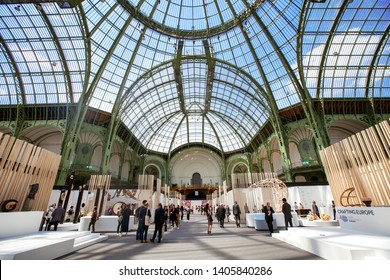 PARIS, FRANCE - 23 MAY 2019: The fourth edition of the international fine crafts and contemporary creation biennial Révélations, Grand Palais in Paris.