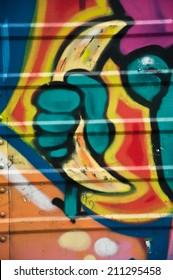 Paris - France - 27 May 2013 - urban art - hand with banana