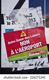 "PARIS, FRANCE --28 SEPTEMBER 2014-- Opposition is very strong and vocal against the ""aeroport du Grand Ouest"", the new airport project planned as a gateway to Western France in Notre-Dame-des-Landes."