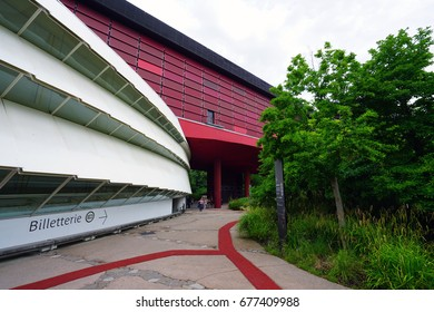 PARIS, FRANCE -6 JUL 2017- Opened in 2006, the Musee du Quai Branly Jacques Chirac is a museum dedicated to indigenous art and culture from Africa, Oceania, Asia and the Americas.
