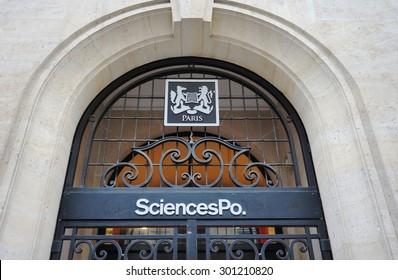 PARIS, FRANCE -8 JULY 2015- The main building of Sciences Po, formerly known as L Institut d Etudes Politiques de Paris, at 27 rue Saint Guillaume in Paris.