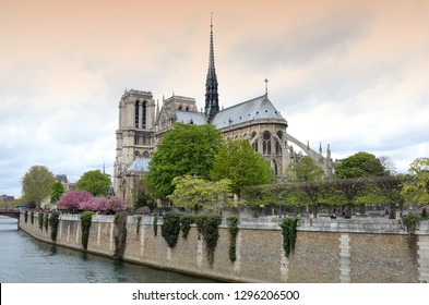Paris, France - 9 April 2012: The Metropolitan Cathedral of Our Lady also known as Notre-Dame Cathedral or simply Notre-Dame, is the main Catholic place of worship in Paris. France