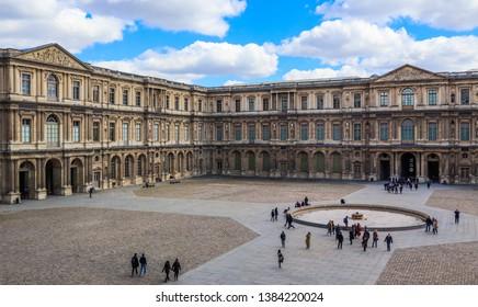 Paris / France - April 03 2019. The Louvre Museum Paris