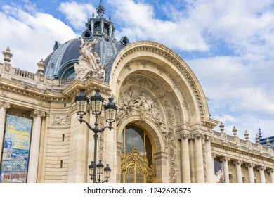 PARIS, FRANCE - APRIL 08, 2018: The Petit Palais, a large historic site, exhibition hall and museum located at the Champs Elysees in the 8th arrondissement of Paris, France.
