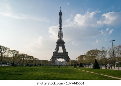 Paris, France - April 1, 2019: Eiffel Tower in spring