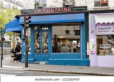 PARIS, FRANCE - APRIL 13, 2018: The French traditional cafe