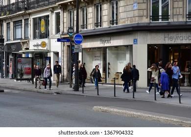 Paris; France - april 2 2017 : the Rivoli street