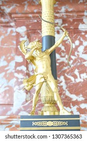Paris, France - April 21, 2018: Wonderful candlestick in the apartaments of Louis Philippe in the Grand Trianon