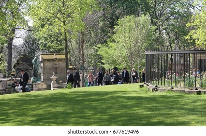 PARIS, FRANCE - APRIL 22:  A view of Pere Lachaise Cemetery, the world's most visited cemetery attracting thousands of visitors taken on the 22nd April, 2015.