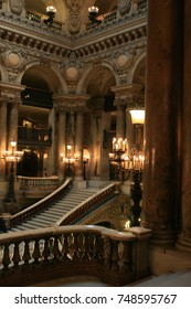 PARIS, FRANCE - April 24, 2010 : Inside decoration of the Opera Garnier (French National Opera House).
