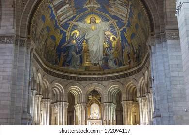 Royalty Free Interior Sacre Coeur Paris Stock Images Photos