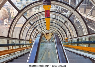 PARIS, FRANCE -APRIL 7, 2018: National Center for Art and Culture Georges Pompidou, in common speech Center Georges Pompidou