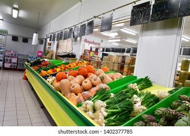 Paris, France - april 9 2019 : vegetable at the supermarket