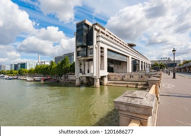 Paris, France - Aug 20, 2014 : Bercy ministry of finance in Paris on a sunny day
