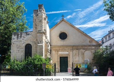 Paris, France - August 14, 2016: Church of Saint Julian the Poor is a Melkite Greek Catholic parish church in Paris, and one of the city's oldest religious buildings.