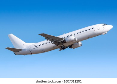 Paris, France - August 15, 2018: GetJet Boeing 737 airplane at Paris Orly airport (ORY) in France. Boeing is an aircraft manufacturer based in Seattle, Washington.