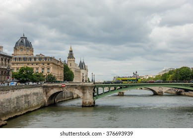 PARIS, FRANCE- AUGUST 17, 2014; The Conciergerie is a former prison in Paris, France, located on the west of the Island of the City presently mostly used for law courts.