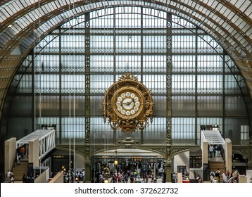 PARIS, FRANCE- AUGUST 18, 2014; D'orsay is a museum in Paris, France, on the left bank of the Seine. It is housed in the former Gare d'Orsay, a Beaux-Arts railway station built between 1898 and 1900.